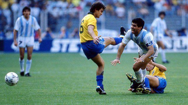 Diego Maradona recordó la victoria memorable ante Brasil en el Mundial del 90
