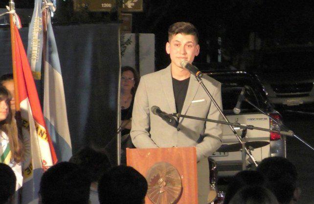 Nahuel Cejas, presidente Comunal de Correa