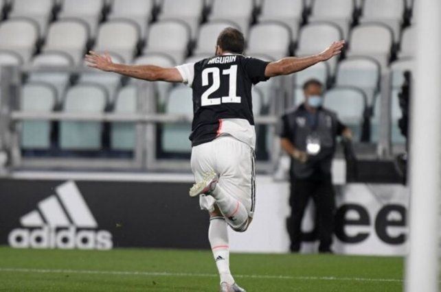 Gonzalo Higuaín volvió al gol para la Juventus en el inicio de la 28ª fecha del Calcio