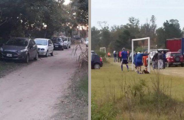 En Rincón Norte se desbarató una fiesta electrónica clandestina, de la que participaban unas 40 personas.El sábado se desarticuló un encuentro de fútbol en Villa California.