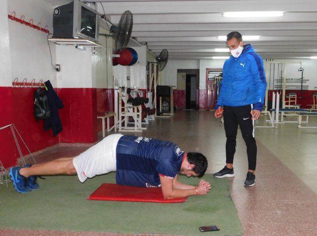El profesor Pablo Berón ya trabaja en el gimnasio de la entidad rojiblanca.