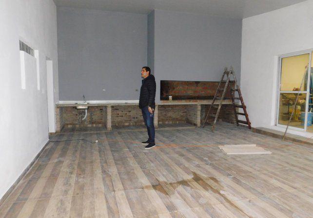 Las obras en la prestigiosa entidad de barrio Candioti nunca se pararon.