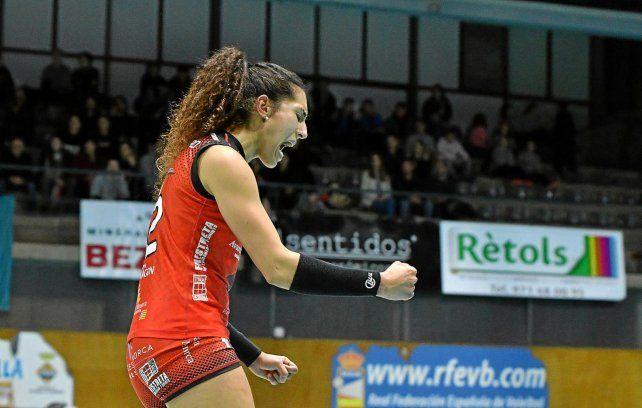Maira Westergaard ha jugado con mucha pasión y eso refrendó su continuidad en Menorca de España.