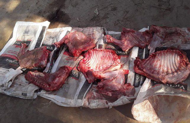 Los cortes de carnes encontrados ene l operativo.