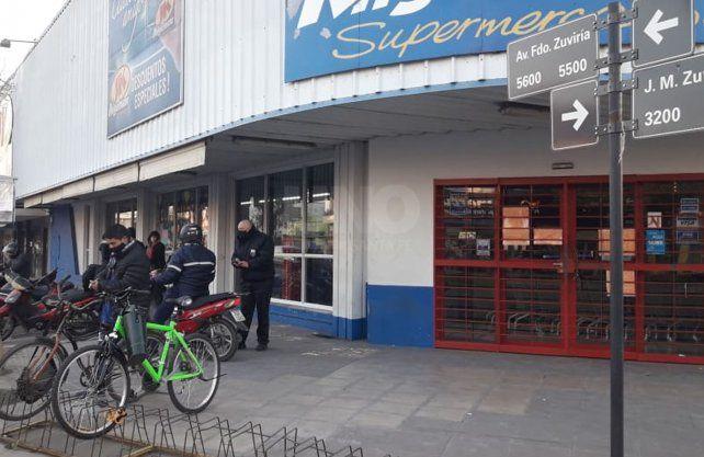 Supermercado cerrado