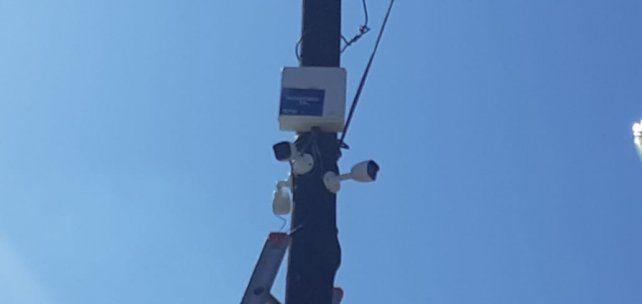 Las cámaras de seguridad se encuentran en el ingreso a Colastiné Sur.