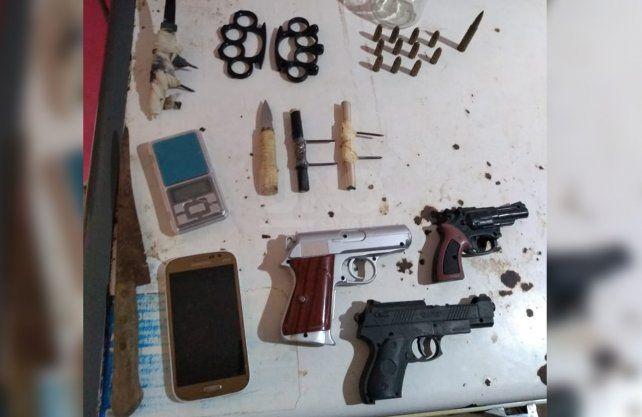 Los elementos secuestrados durante la detención