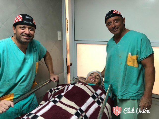 Franco Godoy fue operado el pasado 30 de enero de una grave lesión de rodilla y ya trabaja con el plantel de Unión.