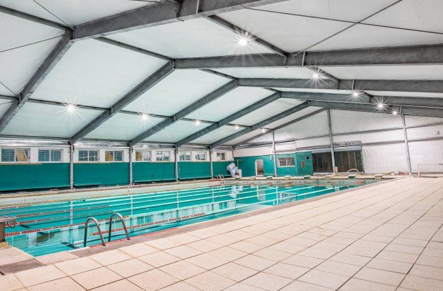 El natatorio Pedro Consuegra que fue remosado en los últimos tiempos.