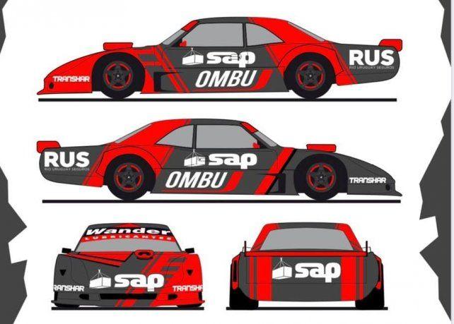 Los nuevos colores de Ian Reutemann para la vuelta de las carreras en San Nicolás.
