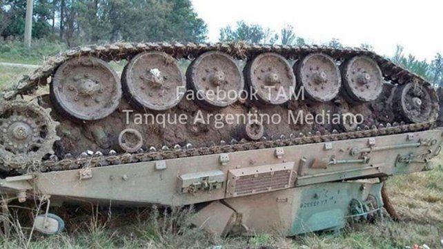 Volcó un tanque del regimiento de Concordia