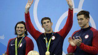 Phelps se retira con otra medalla de oro, la número 23