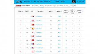 Después de casi dos años, Del Potro volvió a ubicarse en el top 100 del ranking mundial