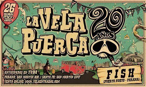 La Vela Puerca tocará en Paraná este 26 de noviembre