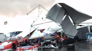 Una cola de tornado arrasó con todo en el autódromo de Concepción del Uruguay
