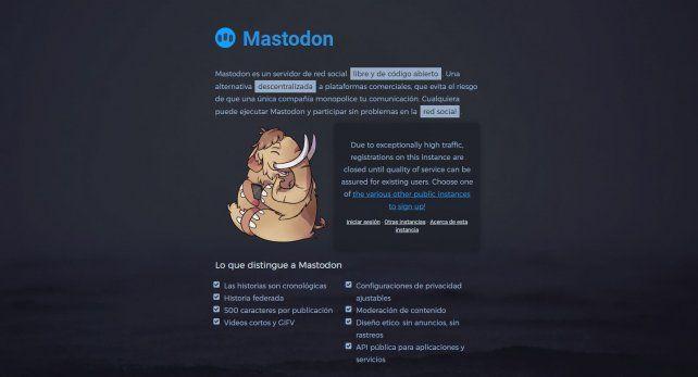 Así es Mastodon, la red social que compite con Twitter