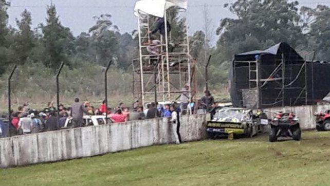 Un piloto del TC Pista chocó contra un paredón en Concordia
