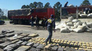 fuerzas federales concretaron un secuestro record de drogas en entre rios