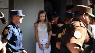 Dio su versión. Nahir salió del edificio de tribunales y volvió a la comisaría del Menor y la Mujer. Foto: El Argentino.