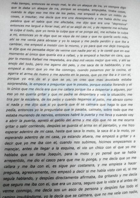 Esta fue la declaración de Nahir en la Justicia donde dice que el crimen fue un accidente