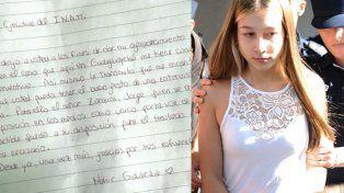 La carta de Nahir Galarza desde la cárcel