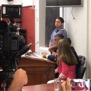 Audiencia pública. Esta vez los medios pudieron tomar el momento del reclamo de Nahir a la jueza.