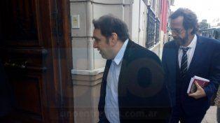 Hernández entrando a declarar ante el juez Ríos.