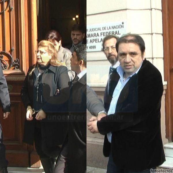 Comprometidos. Bordeira y Hernández en la tarde de este lunes fueron llevaron a la cárcel. Foto: Juan Manuel Hernández.