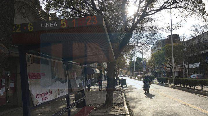 Histórica. La falta de servicio de colectivos urbanos en Paraná