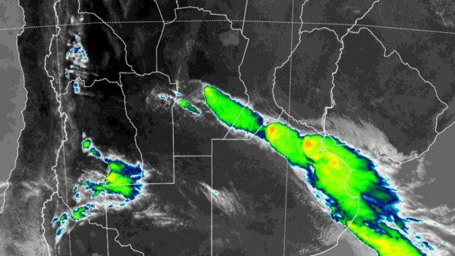 El sur de Santa Fe incluido en el área de cobertura del temporal