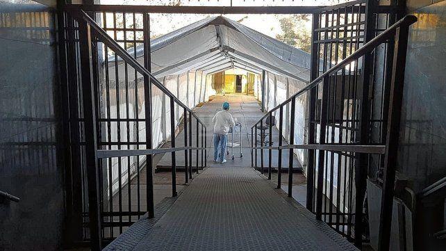 El hospital de campaña se instaló a fines de abril en el Liceo Militar General Belgrano con una